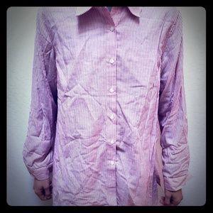 Brand new Neiman Marcus pin stripe button-up shirt